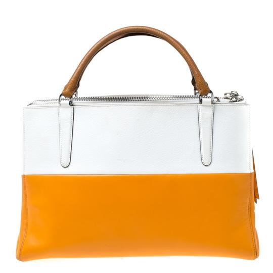 Coach Leather Retro Tote in White Image 1
