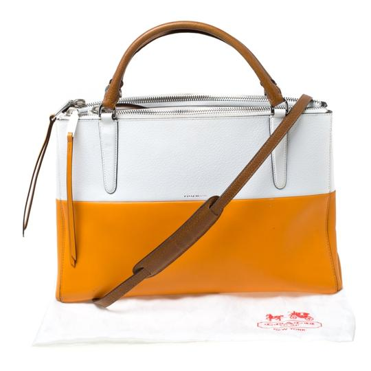 Coach Leather Retro Tote in White Image 10