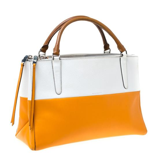 Coach Leather Retro Tote in White Image 5