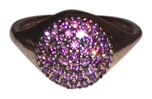 PANDORA Pandora Sterling Silver ALE 52 Fancy Purple Pave Ring
