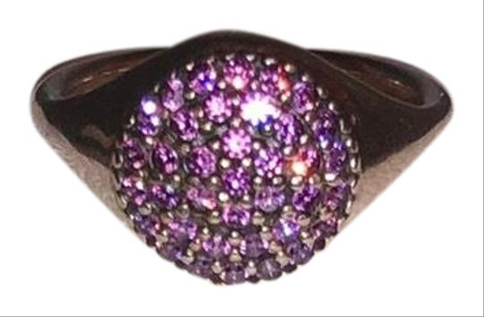 Preload https://img-static.tradesy.com/item/25957894/pandora-purple-and-sterling-silver-ale-52-fancy-pave-ring-0-1-540-540.jpg