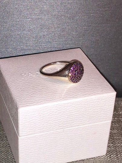 PANDORA Pandora Sterling Silver ALE 52 Fancy Purple Pave Ring Image 1
