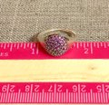 PANDORA Pandora Sterling Silver ALE 52 Fancy Purple Pave Ring Image 11