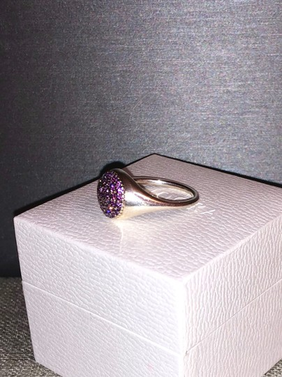 PANDORA Pandora Sterling Silver ALE 52 Fancy Purple Pave Ring Image 2
