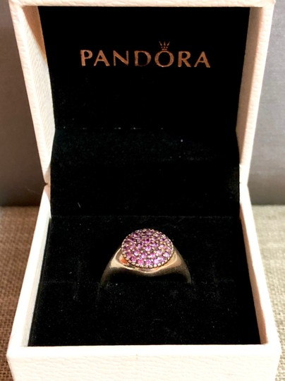 PANDORA Pandora Sterling Silver ALE 52 Fancy Purple Pave Ring Image 3