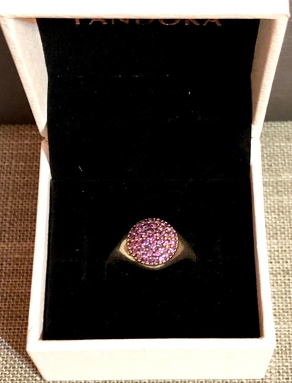 PANDORA Pandora Sterling Silver ALE 52 Fancy Purple Pave Ring Image 4