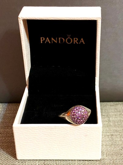 PANDORA Pandora Sterling Silver ALE 52 Fancy Purple Pave Ring Image 5