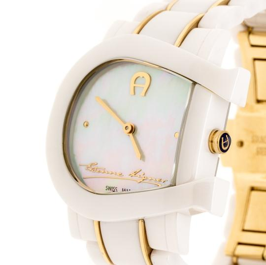 Etienne Aigner White Mother of Pearl Two Tone Genua Due A3160 Women's Wristwatch 33mm Image 1