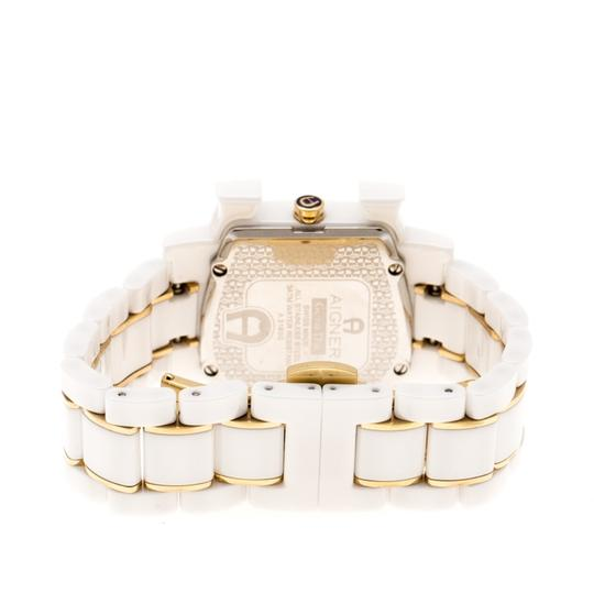 Etienne Aigner White Mother of Pearl Two Tone Genua Due A3160 Women's Wristwatch 33mm Image 2