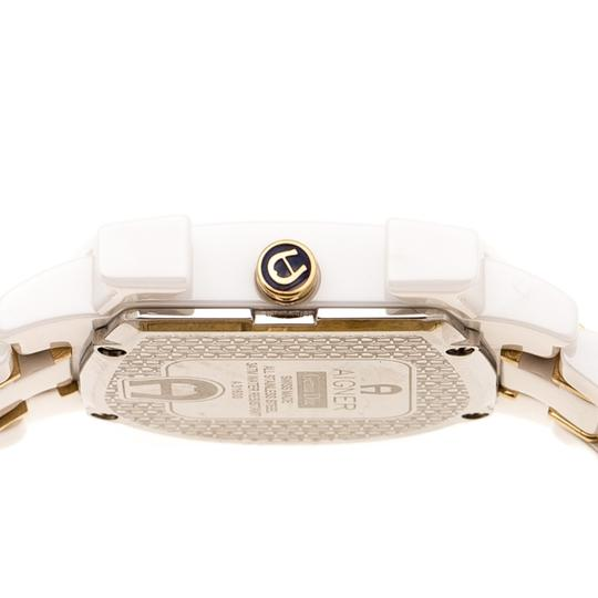 Etienne Aigner White Mother of Pearl Two Tone Genua Due A3160 Women's Wristwatch 33mm Image 3