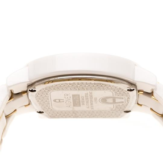 Etienne Aigner White Mother of Pearl Two Tone Genua Due A3160 Women's Wristwatch 33mm Image 4