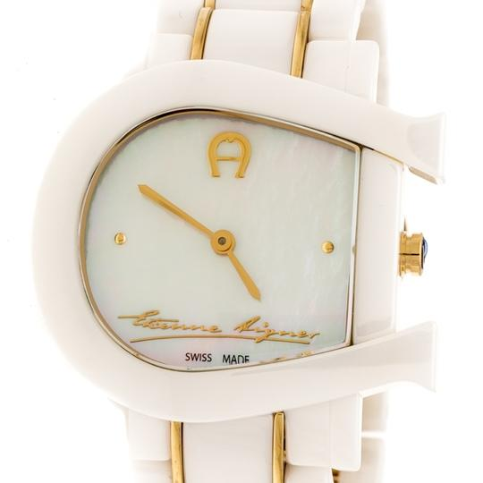 Etienne Aigner White Mother of Pearl Two Tone Genua Due A3160 Women's Wristwatch 33mm Image 5
