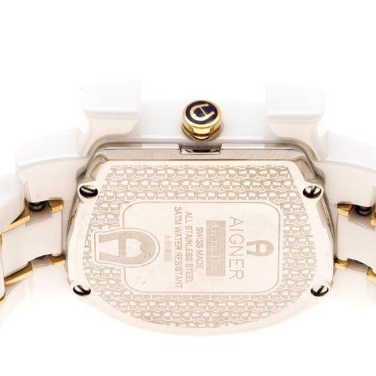 Etienne Aigner White Mother of Pearl Two Tone Genua Due A3160 Women's Wristwatch 33mm Image 6