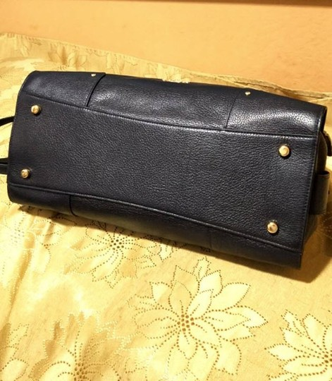 Coach Mercer Satchel in Navy Image 10