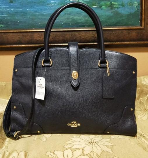 Coach Mercer Satchel in Navy Image 5