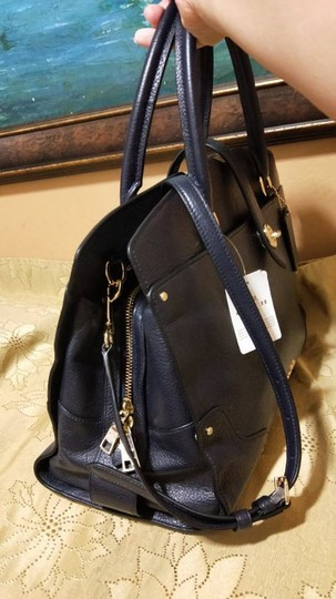 Coach Mercer Satchel in Navy Image 6