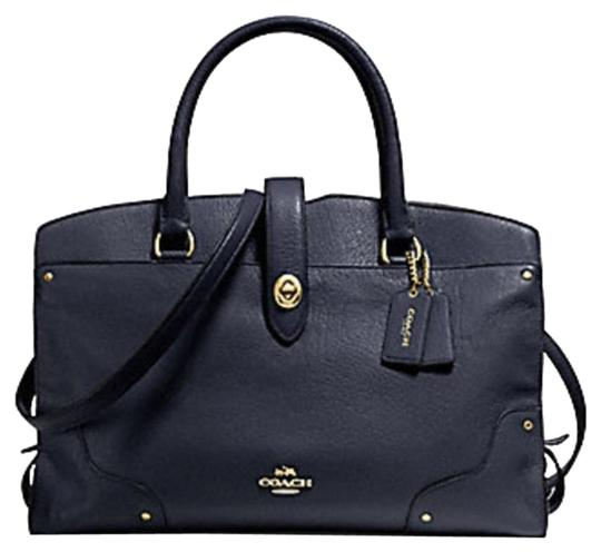 Coach Mercer Satchel in Navy Image 0