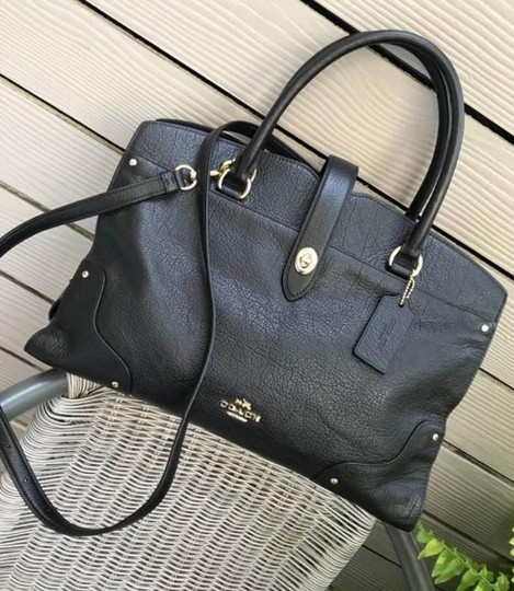 Coach Mercer Satchel in Navy Image 1