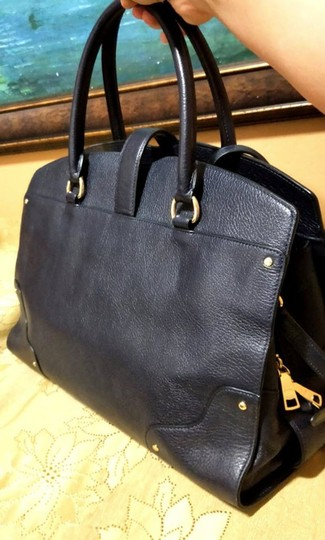 Coach Mercer Satchel in Navy Image 3