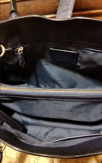 Coach Mercer Satchel in Navy Image 8