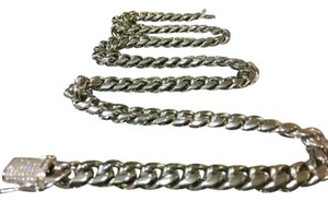 Harlembling Harlembling 14kt White Gold Miami Cuban Link Chain Top Quality