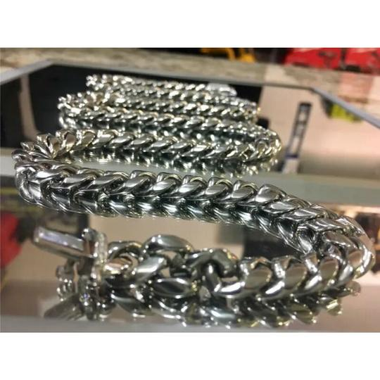 Harlembling Harlembling 14kt White Gold Miami Cuban Link Chain Top Quality Image 3