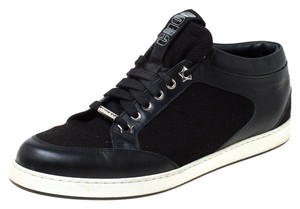 Jimmy Choo Canvas Leather Logo Black Athletic
