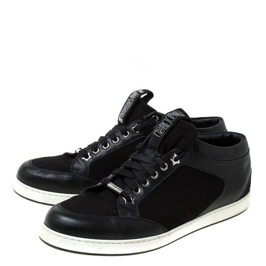 Jimmy Choo Canvas Leather Logo Black Athletic Image 3