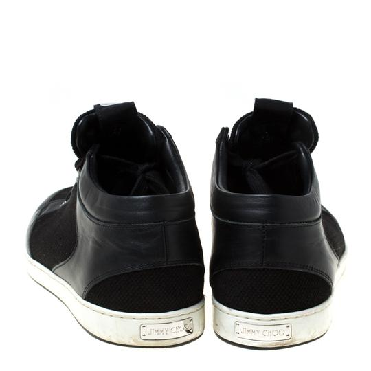Jimmy Choo Canvas Leather Logo Black Athletic Image 4