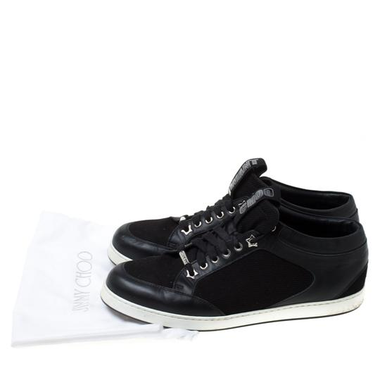 Jimmy Choo Canvas Leather Logo Black Athletic Image 7