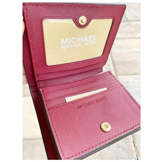 Michael Kors Michael Kors Fulton Carryall Card Case Wallet Mulberry Leather Image 4