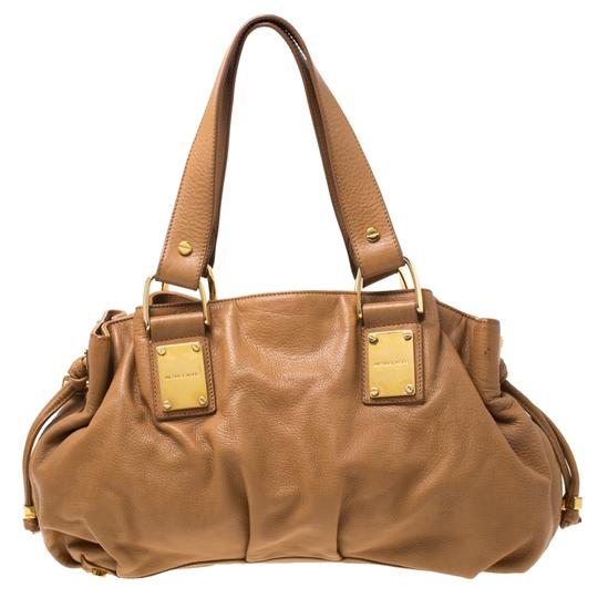 Michael Kors Leather Satchel in Brown Image 1