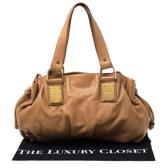 Michael Kors Leather Satchel in Brown Image 10