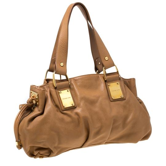 Michael Kors Leather Satchel in Brown Image 4