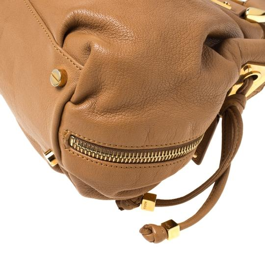 Michael Kors Leather Satchel in Brown Image 6