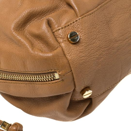 Michael Kors Leather Satchel in Brown Image 7