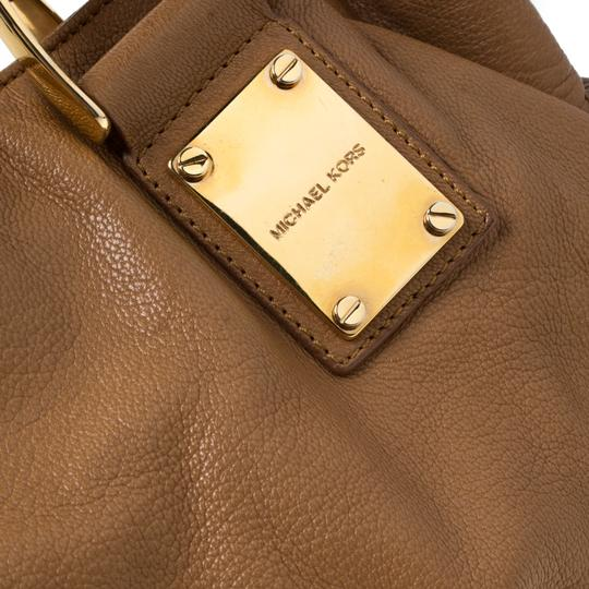Michael Kors Leather Satchel in Brown Image 8