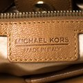 Michael Kors Leather Satchel in Brown Image 9