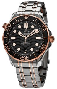 Omega Seamaster Stainless Steel Automatic 18 Kt Sedna Gold Men's Watch