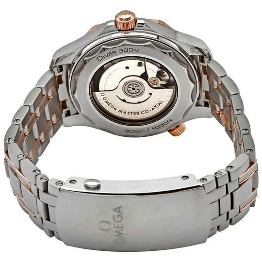 Omega Seamaster Stainless Steel Automatic 18 Kt Sedna Gold Men's Watch Image 2