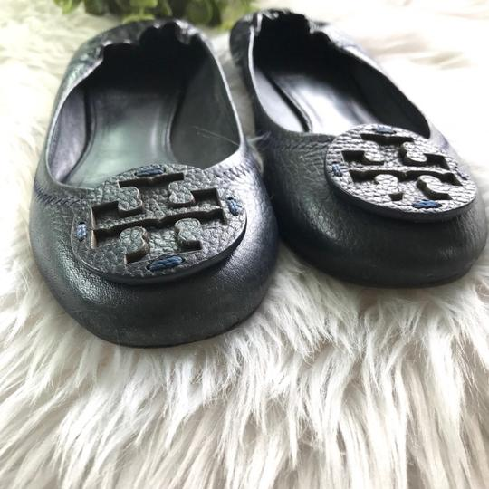 Tory Burch Navy Blue Wedges Image 3