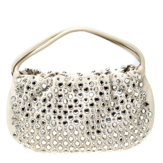 Sonia Rykiel Crystal Embellished Leather Shoulder Bag Image 1