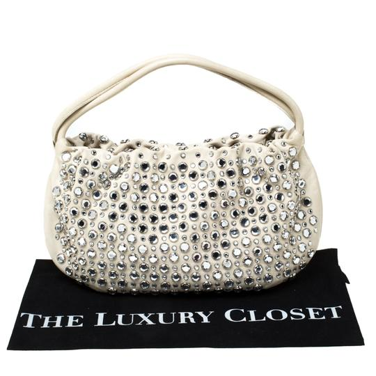 Sonia Rykiel Crystal Embellished Leather Shoulder Bag Image 10