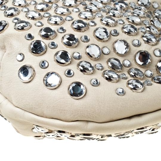 Sonia Rykiel Crystal Embellished Leather Shoulder Bag Image 7