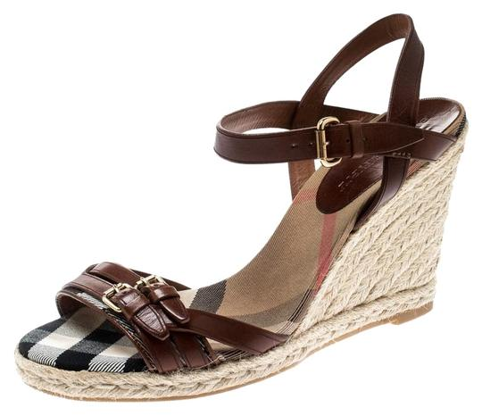 Preload https://img-static.tradesy.com/item/25957962/burberry-brown-belted-leather-espadrille-wedges-sandals-size-eu-41-approx-us-11-regular-m-b-0-1-540-540.jpg
