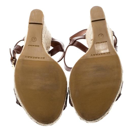 Burberry Belted Leather Espadrille Brown Sandals Image 5