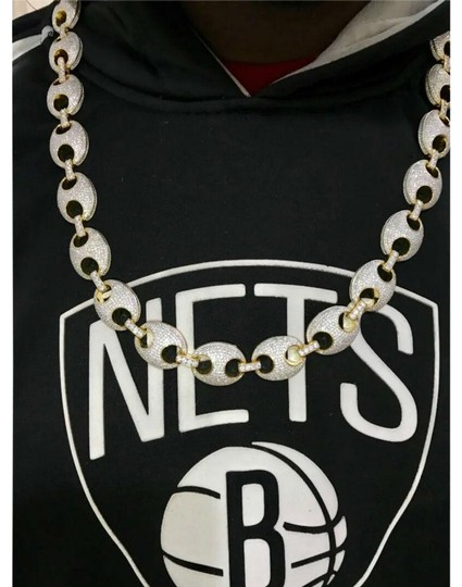 Preload https://img-static.tradesy.com/item/25957967/gold-crafted-14kt-diamond-studded-gucci-link-chain-necklace-0-1-540-540.jpg
