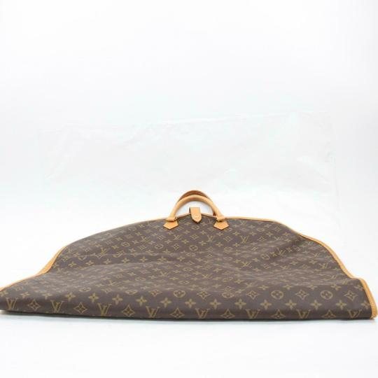Louis Vuitton Garment Hanger Suit Keepall Duffle Brown Travel Bag Image 6