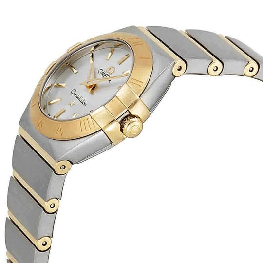 Omega Constellation Automatic Stainless Steel 18Kt Gold Bars Ladies Watch Image 1