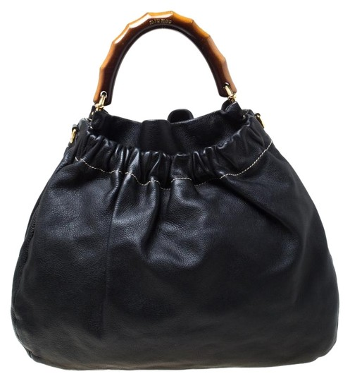Miu Miu Leather Hobo Bag Image 0